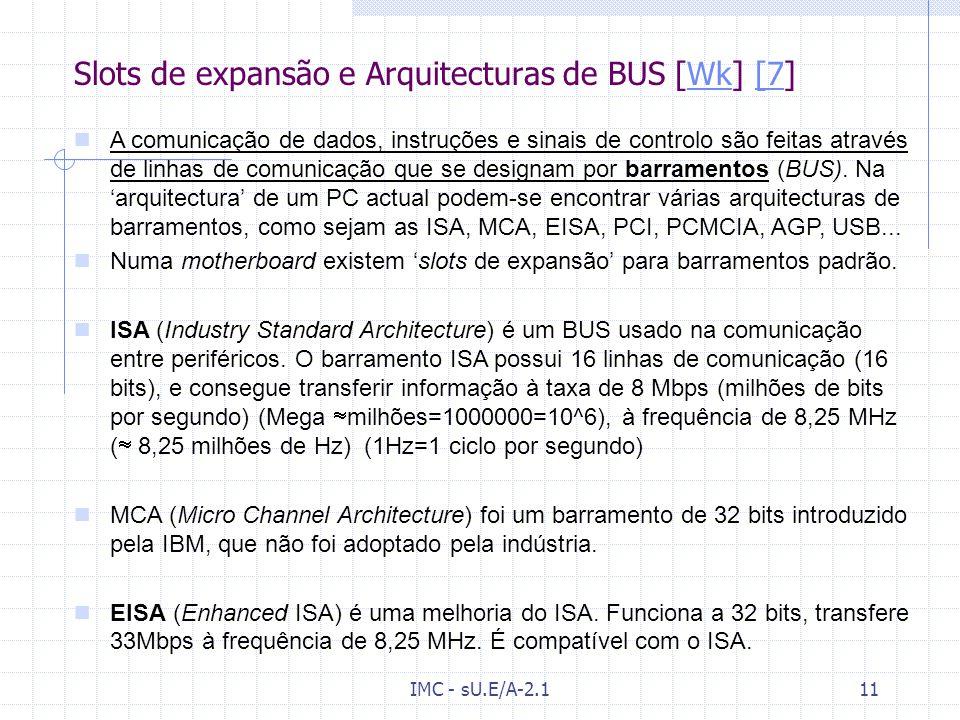 Slots de expansão e Arquitecturas de BUS [Wk] [7]